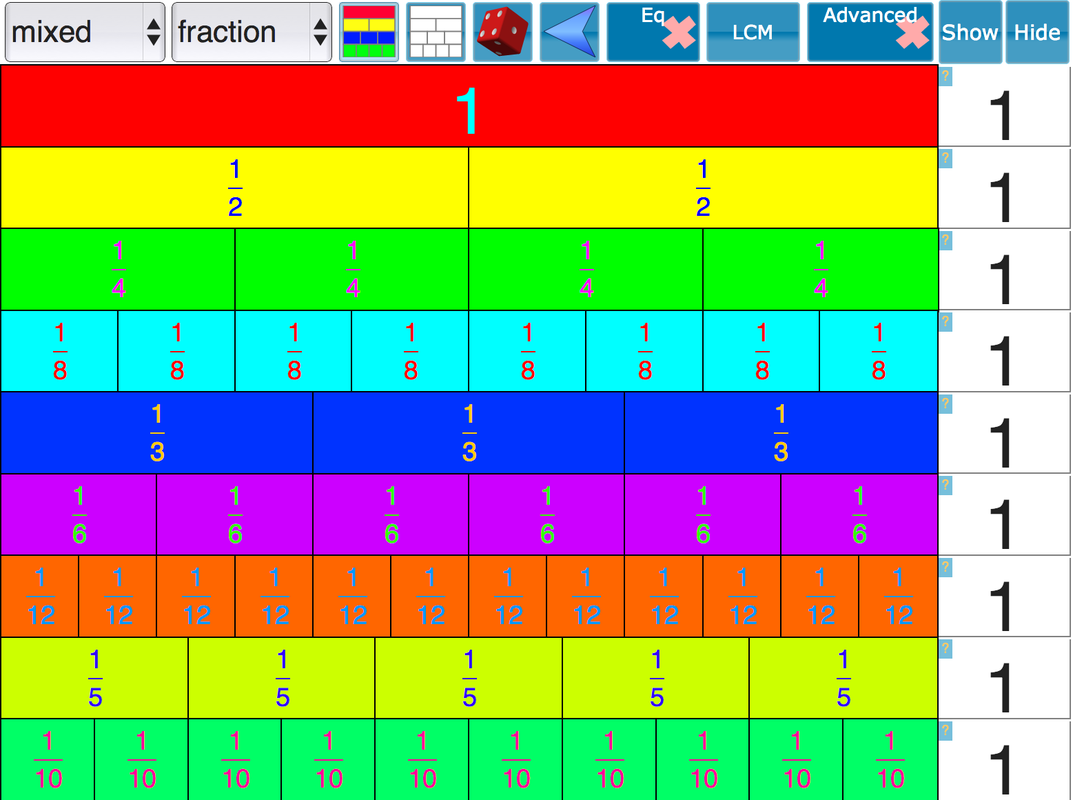 fraction dec grid fraction wall